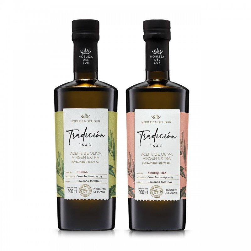 Tradicion 1640 Nobleza del Sur set oliwa extra virgin 2x500 ml